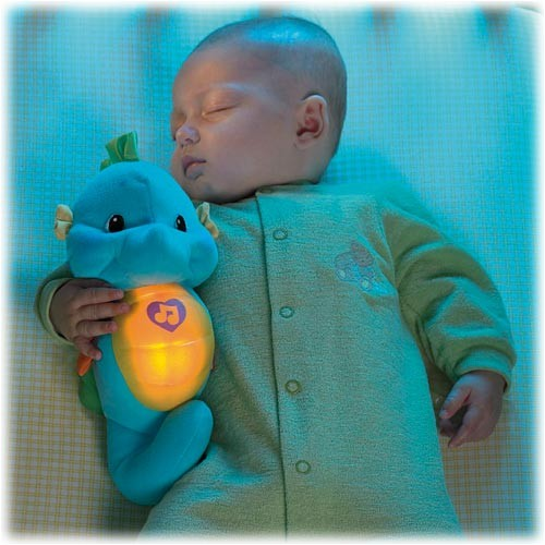 FISHER PRICE SNUG AND GLOW SEAHORSE BLUE