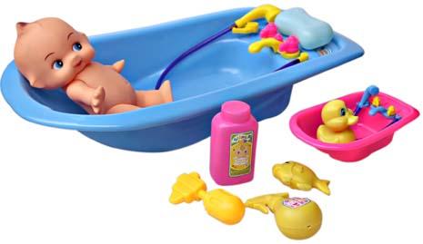 BATHTUB BABY DOLL BLUE
