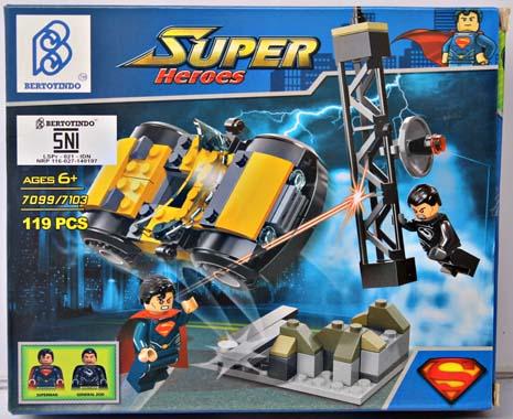 SUPER HEROES SUPERMAN 119PCS SERI 7099-7103