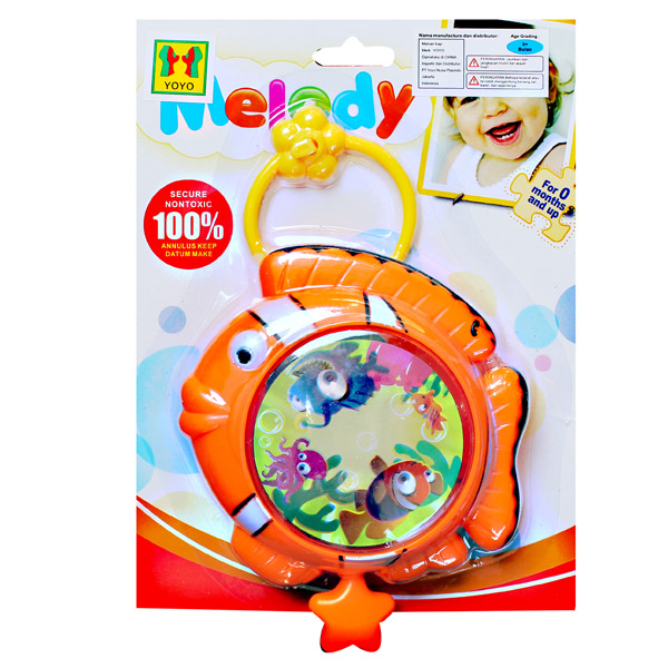 MELODY STROLLER TOY FISH