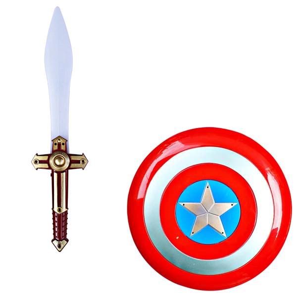 CAPT AMERICA SWORD AND SHIELDS
