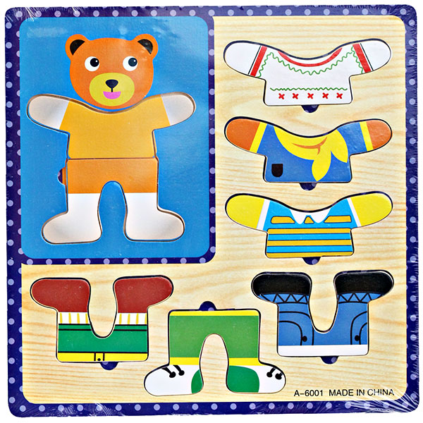 WOODEN PUZZLE MIX AND MATCH DRESS
