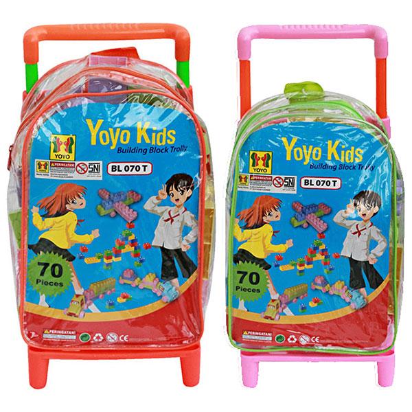YOYO KIDS TROLLEY BLOCK 70 PCS