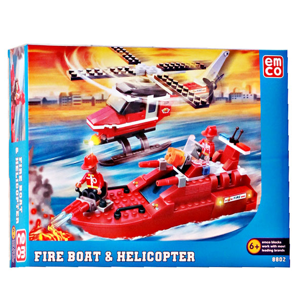 EMCO FIRE BOAT N HELICOPTER SERI 8802