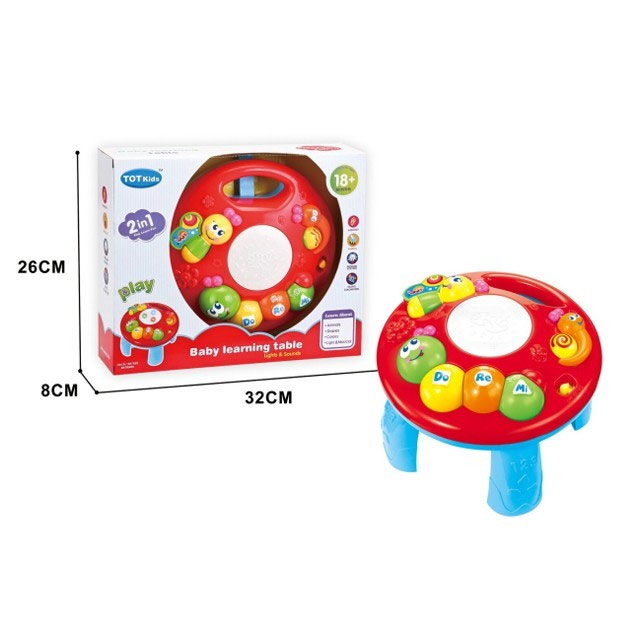 MUSICAL LEARNING TABLE 2IN1 1096