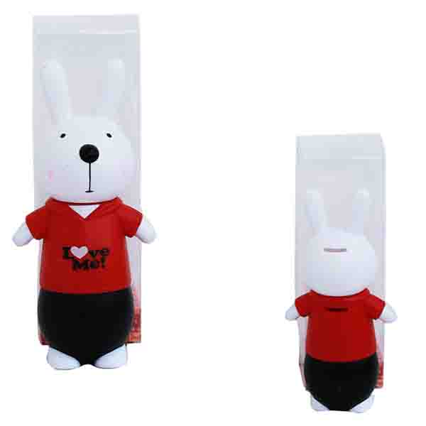 coin bank rabbit type 1 , celengan rabbit , celengan kekinian , celengan anak , celengan lucu .