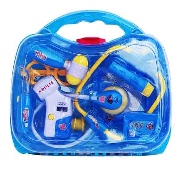 doctor kit koper biru , doctor box, doctor playset , game doctor , mainan doctor lucu .