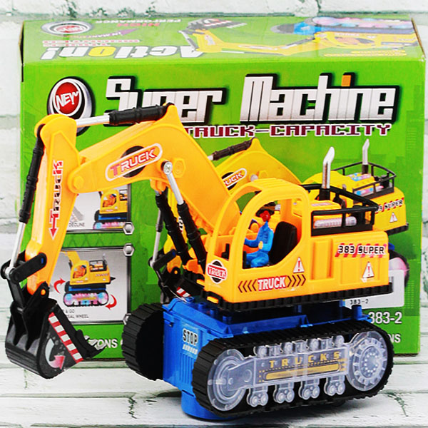 Super machine truck , mainan mobil trucak beko , mainan mobil mobilan konstruction truck .