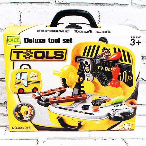 Deluxe tools set koper , tool set koper , tool set mainan anak , tool set game .