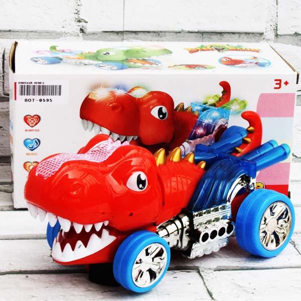DINOSAUR HD9012, mainan dinosaurus , mobilan dinosaurus bump and go.