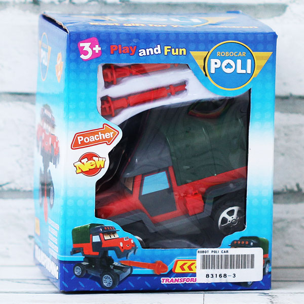 ROBOT POLI CAR 83168-3. ROBOCAR LAUNCHER