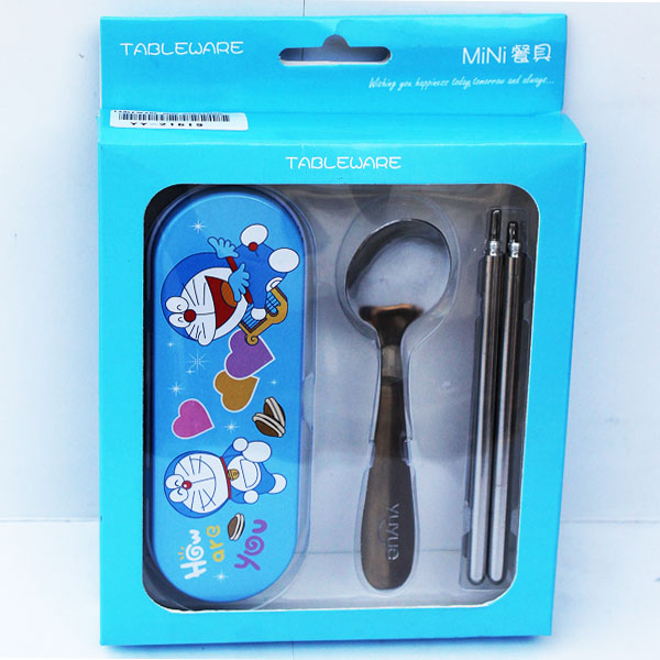 TABLEWARE MINI DORAEMON , tempat sendok anak