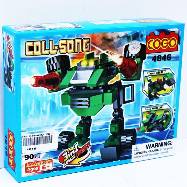 COGO DILOPHOSAURUS COLL SONG SERI 4846 , block