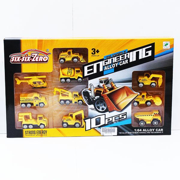 vehicles, alloy, ENGINERING ALOY CAR 10 PCS