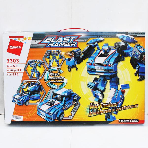 BLOCK BLAST RANGER 815 PCS SERI 3303