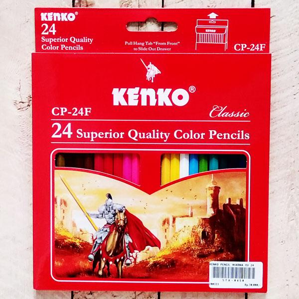 pensil warna, kenko, alat tulis