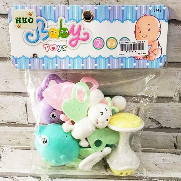 BABY RATTLE 2840 TOYS 8 PCS KANTONG , mainan rattle , mainan anak rattle anak