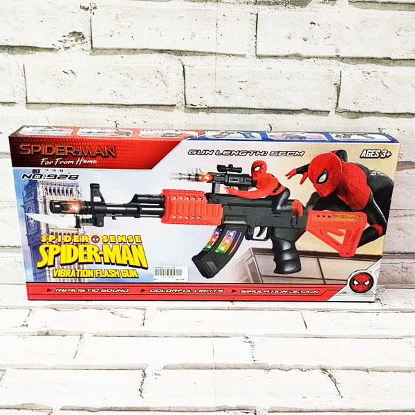 SPIDERMAN FLASH GUN , MAINAN TEMBAKAN ANAK , MAINAN ANAK FLASHGUN , MAINAN SPIDERMAN TEMBAKAN ANAK
