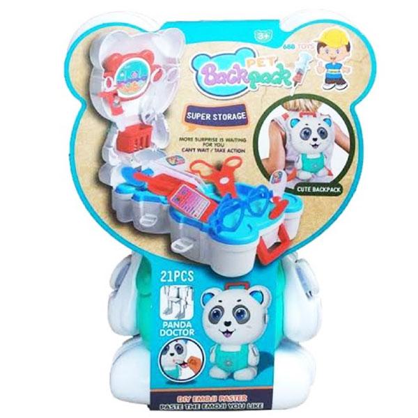DOCTOR BACKPACK PET  doctor backpack pet panda, doctor backpack , doctor kit