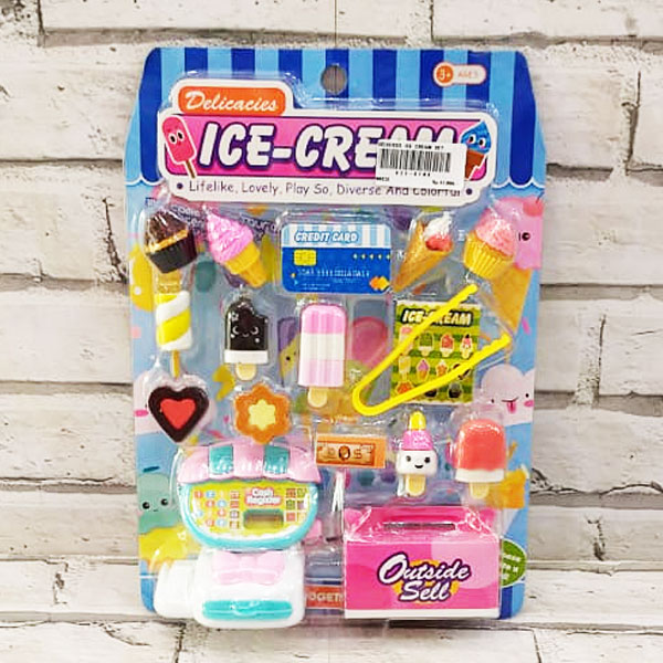 DELICIOUS ICE CREAM SET , MAINAN ICE CREAM SET , ICE CREAM PERLENGKAPAN DAPUR ANAK