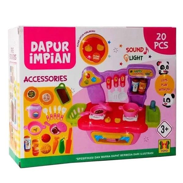 DAPUR IMPIAN CC002 LIGHT SOUND , DAPUR IMPIAN , MAINAN KITCHEN DAPUR SET , MAINAN KITCHEN SET