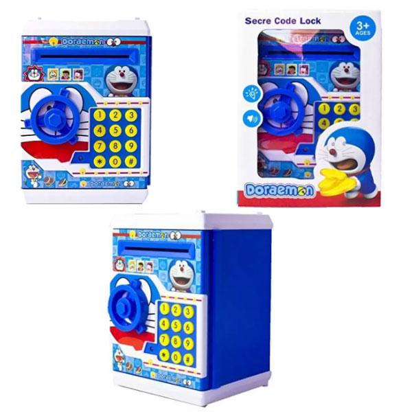 SAVING BOX DORAEMON , celengan doraemon , mainan anak celengan karakter , saving box doraemon 16528b